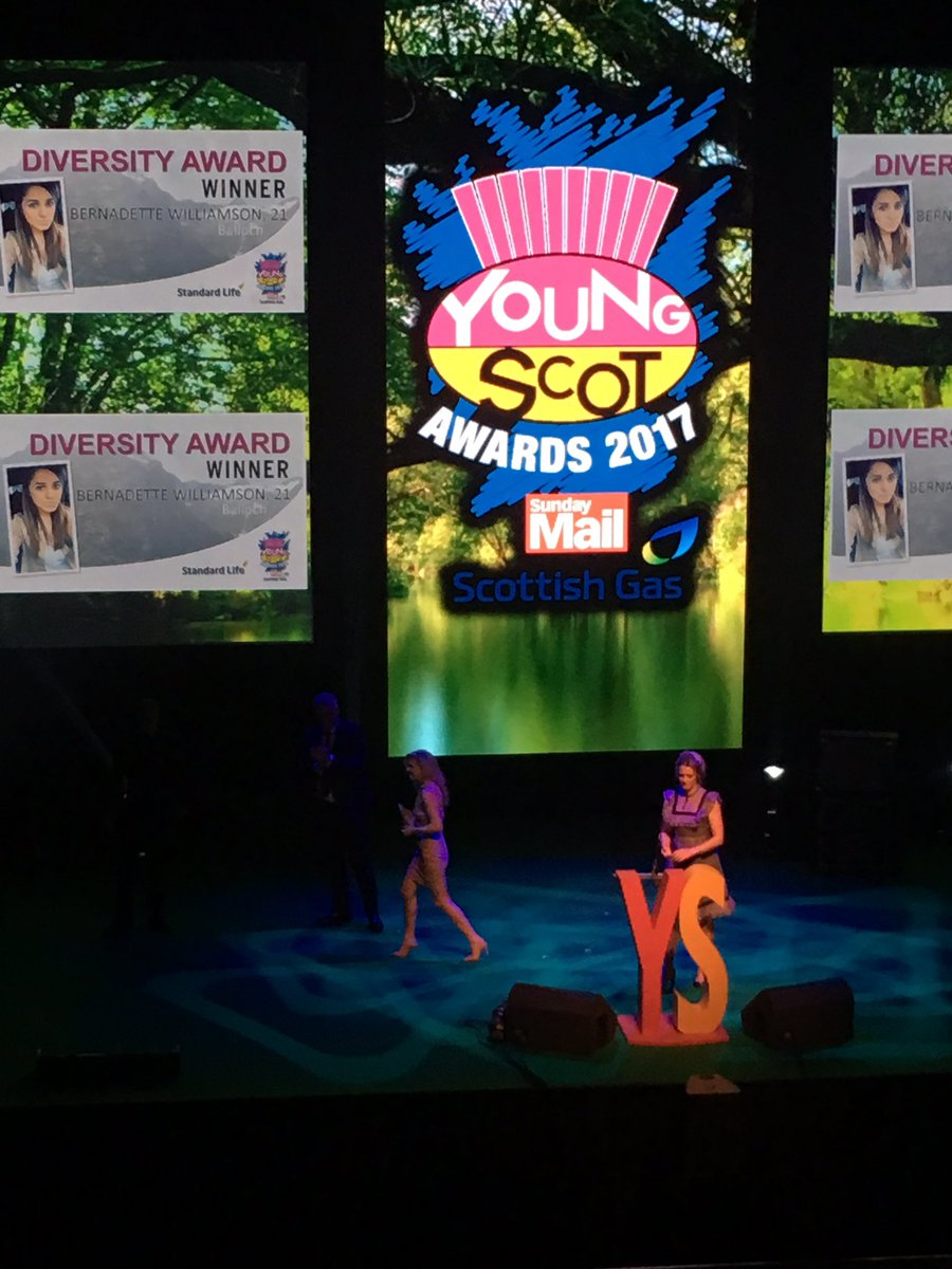 Bernadette Williamson accepting her award for Diversity #YSAwards http...