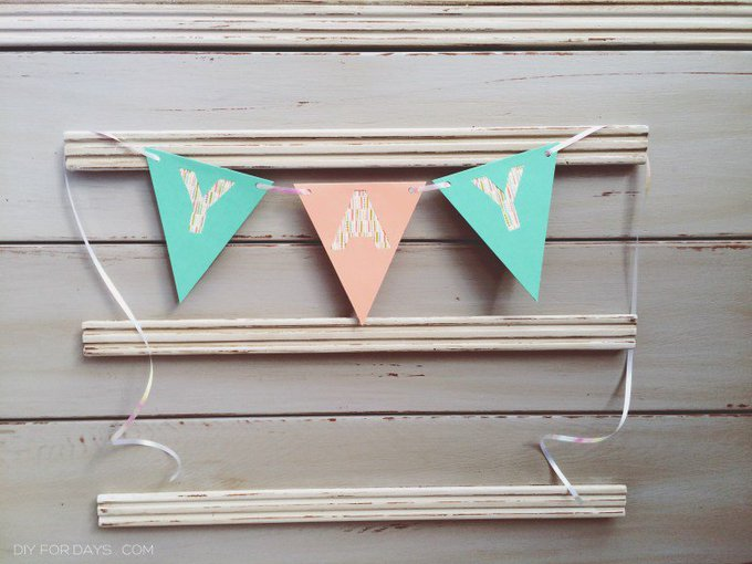 Washi Bunting Banner Tutorial + Alphabet Template
