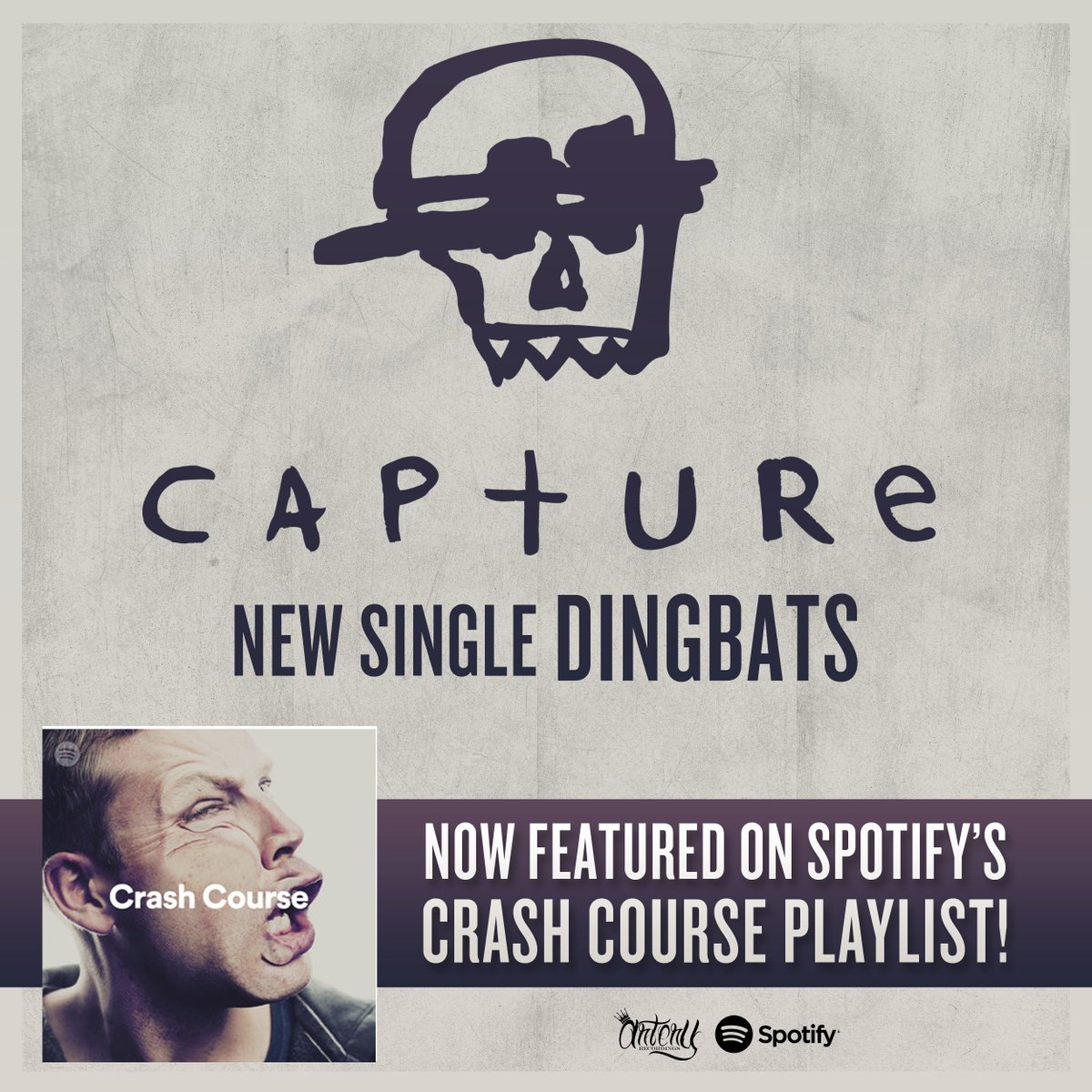 Have you listened to 'Dingbats' yet? Take a listen to our latest single in @Spotify's Crash Course playlist! open.spotify.com/user/spotify/p…