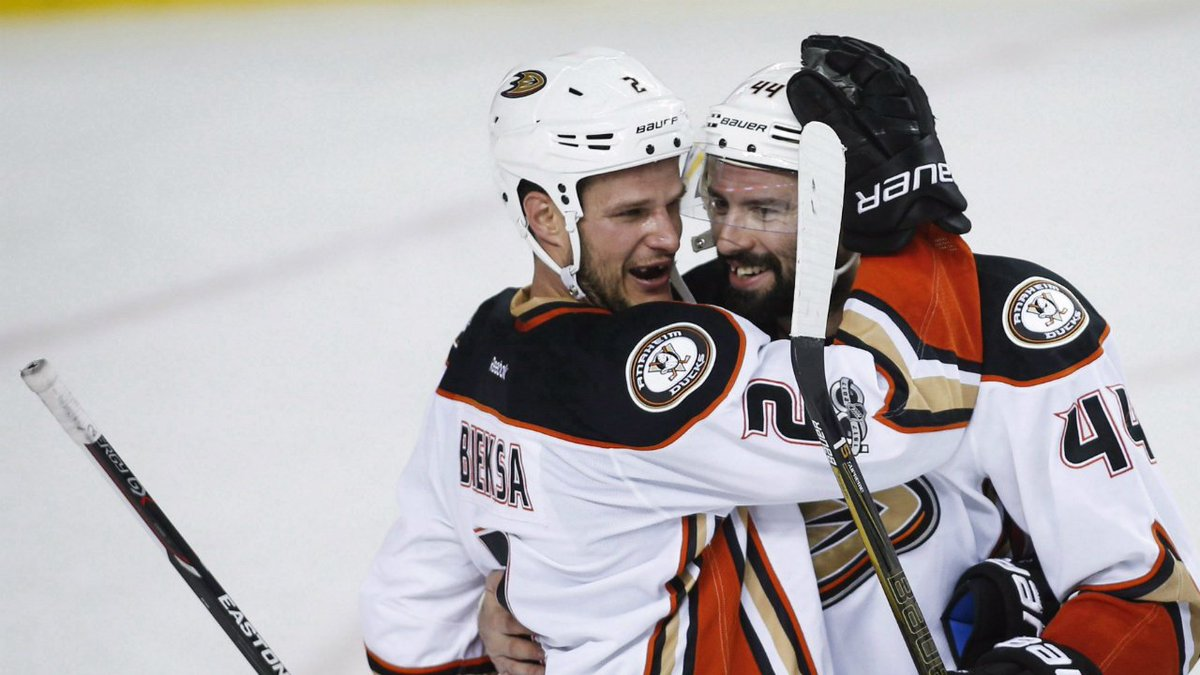 Kevin Bieksa is 'doubtful' for the Ducks in Game 2 due to a lower-body...