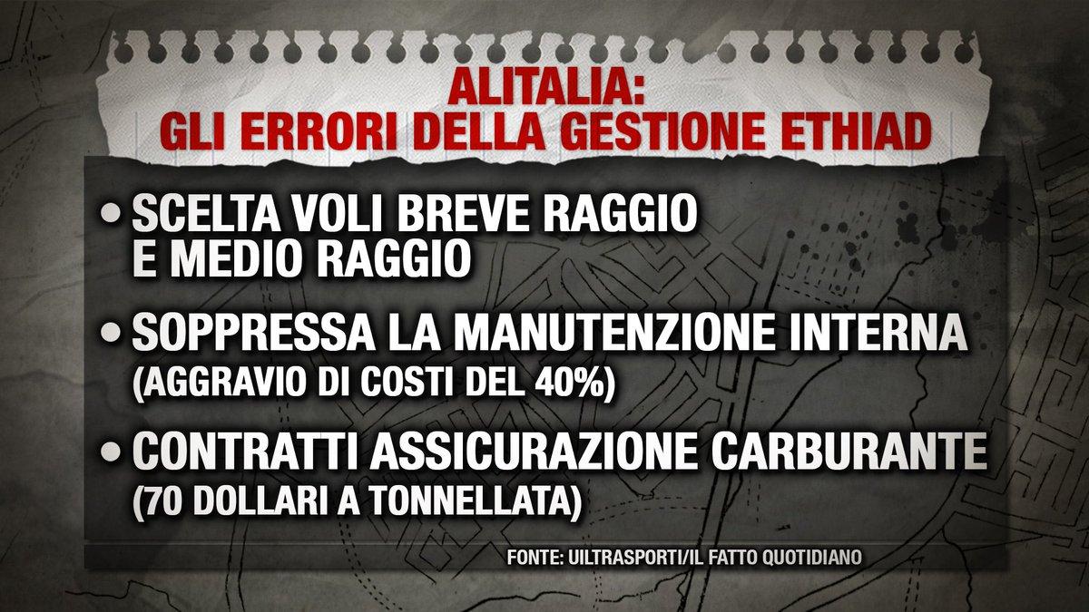 Gli errori della gestione #Etihad in #Alitalia. @lindagiannattas  #pia...