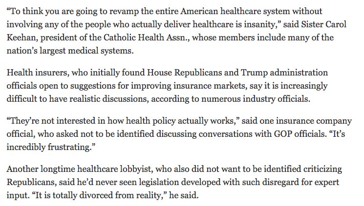 Goodness, this @NoamLevey piece on the current Obamacare repeal effort is 🔥 https://t.co/VTp8zZ9C4j