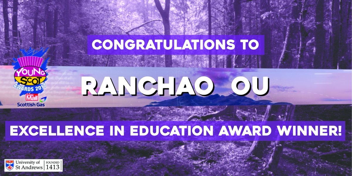 And the Excellence in Education category winner is… Ranchao Ou! #YSAwa...