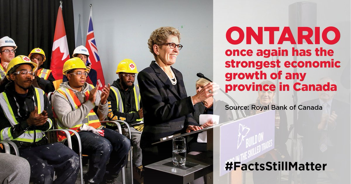 Ontario once agains has the strongest economic growth in Canada. #onpo...