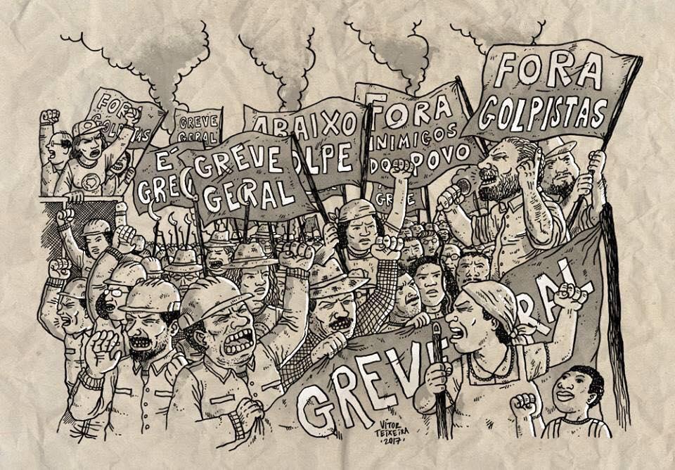 É HOJE! DIA DE LUTA! #EuApoioAGreveGeral #GreveSIM #28A 👊