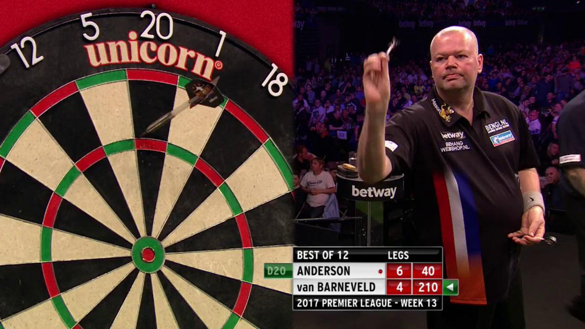 Ando with the win | @GaryAnderson180 holds strong to a potential Barne...