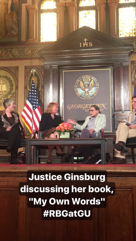 Honored to have Justice Ginsburg in Gaston Hall today #RBGatGU https:/...