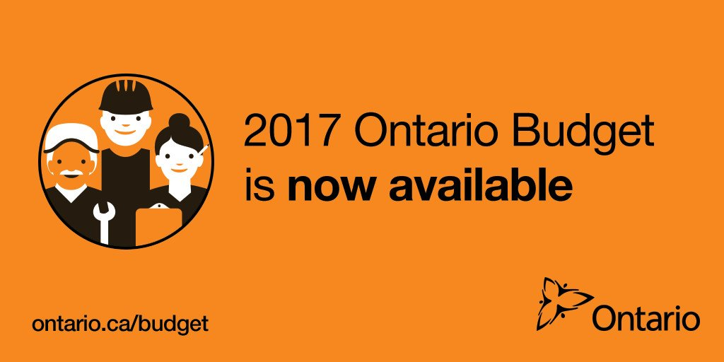 Min. @SousaCharles has released the balanced 2017 Ontario Budget. #ONB...