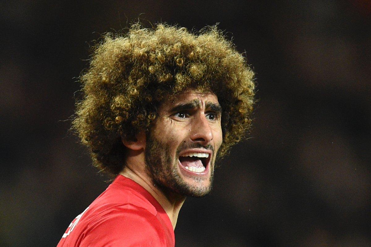 83': Marouane Fellaini gets booked. 84': Marouane Fellaini gets a stra...