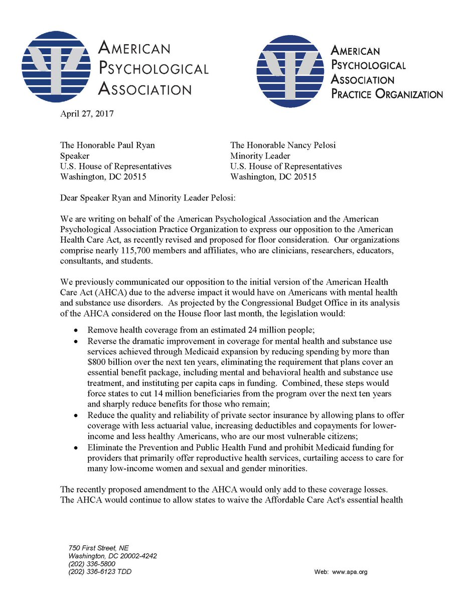 Apa Practice On Twitter The Apa Apapractice Letter To