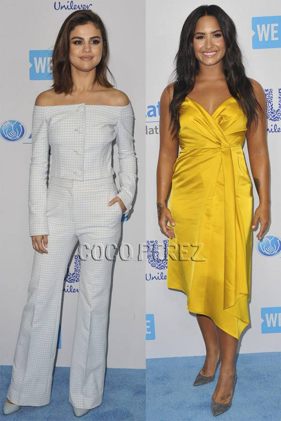 Are you feeling @selenagomez & @ddlovato's outfits for We Day?? https://t.co/SCgqt1JT5S https://t.co/O7ikjzOYYq