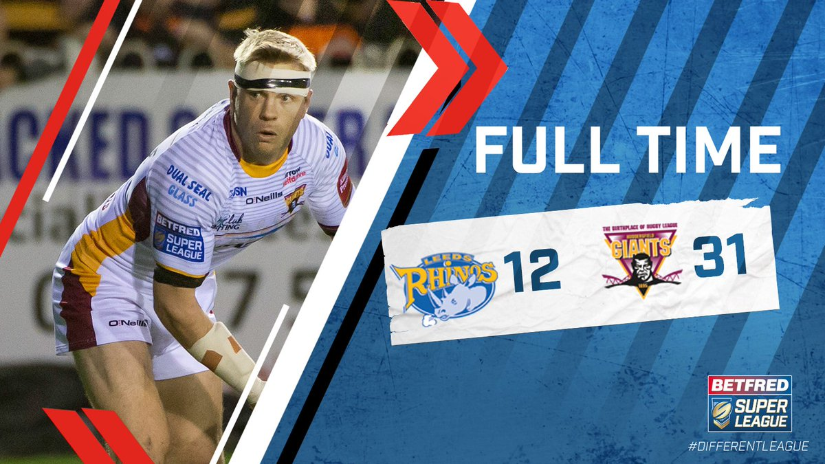 #SLLeeHud  A mighty performance and a mighty win for @Giantsrl at Head...
