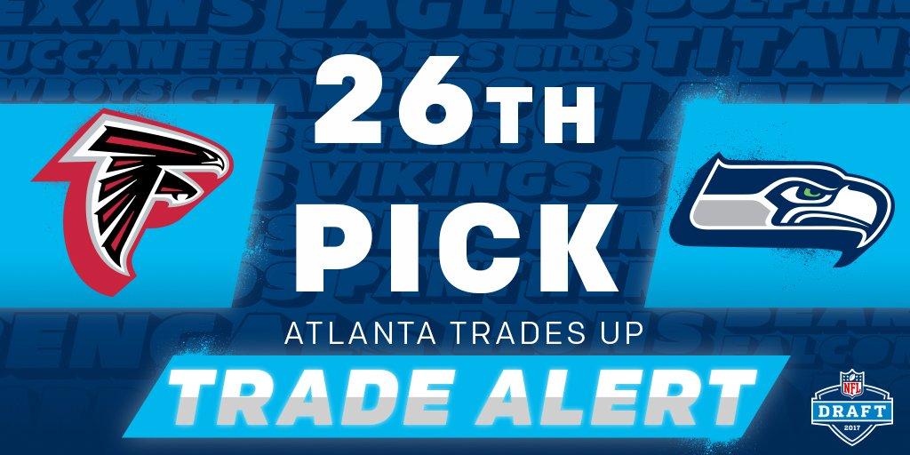🚨 TRADE ALERT! 🚨  @AtlantaFalcons trade up to the #26 pick (via the @S...