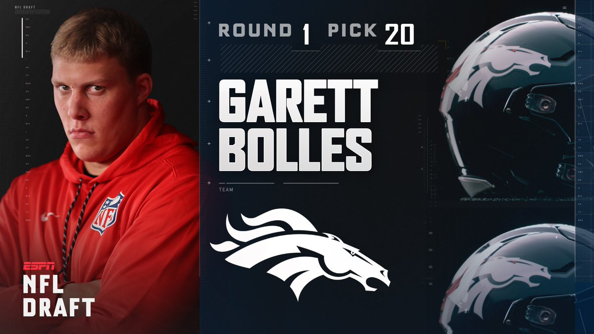 With the 20th pick in the 2017 NFL Draft, the Denver Broncos select Ga...