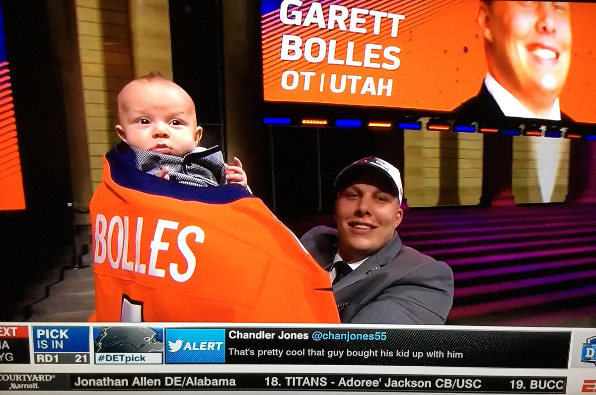 Garett Bolles wins #takeyourkidtoworkday.  #NFLDraft https://t.co/YLGV...