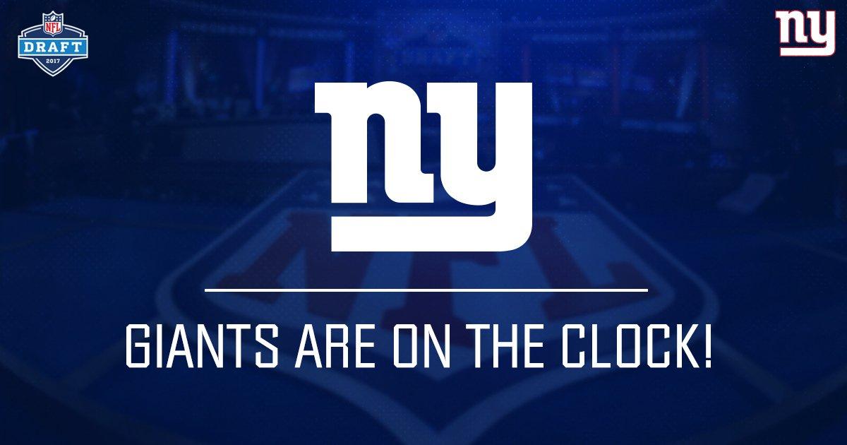 ⏰ THE GIANTS ARE ON THE CLOCK!!! ⏰ #GiantsDraft https://t.co/JmOHHkPX6...