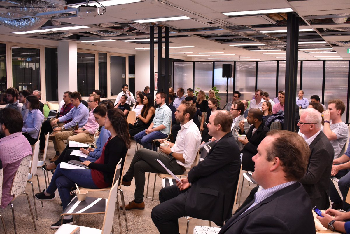 Check out the photos from Mini Demo Day! Courtesy of Nat from @stoneandchalk #fintech #demoday #startups #startupaus https://t.co/Nkisj7kIuC
