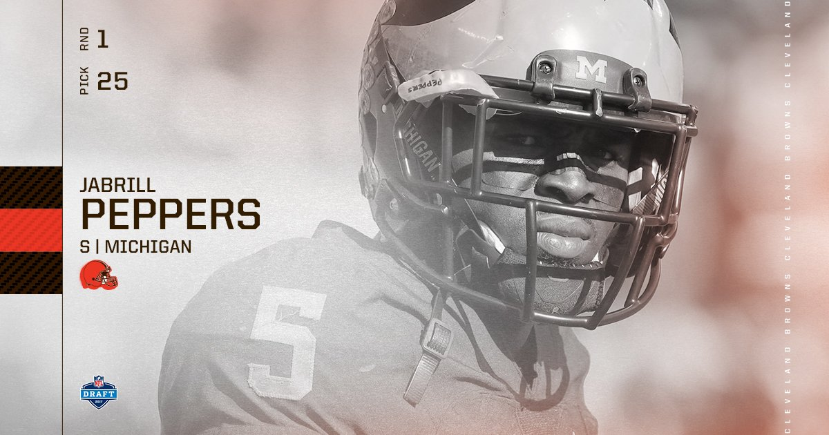 Welcome to Cleveland, Jabrill Peppers!  https://t.co/xijtGu0Wk2  #Brow...
