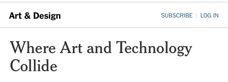they should install a traffic light at the intersection of art and technology https://t.co/7hZsL7wXTW