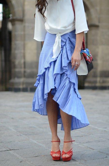 Ruffle skirt.