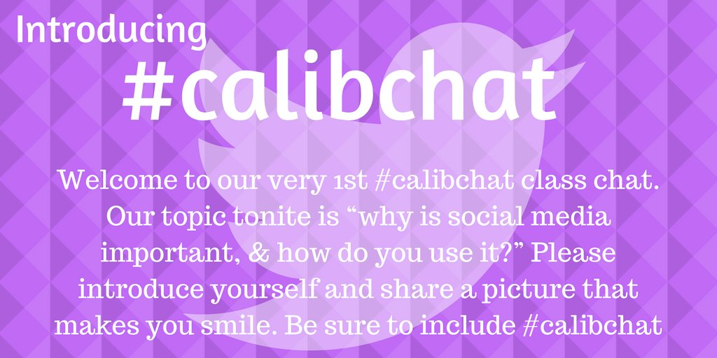 Just 1 hour til the brand new #calibchat live chat! @KatieJMcNamara & I invite all CA school librarians, TLs far & wide, library supporters! https://t.co/vlytfaNfmt