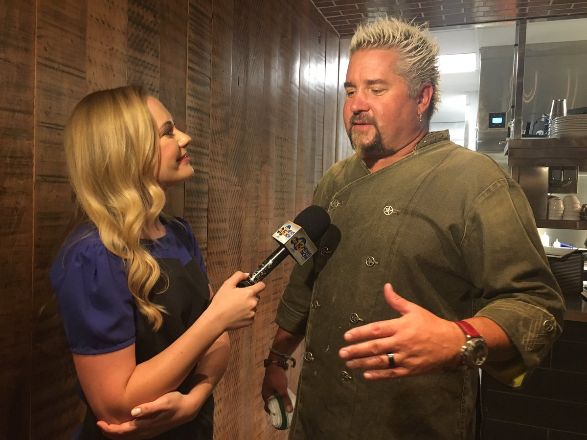 .@13KristinaZ got to talk one-on-one with @GuyFieri just a week before his new restaurant opens at @WatersideDistVA! Tune in at 11 for more!