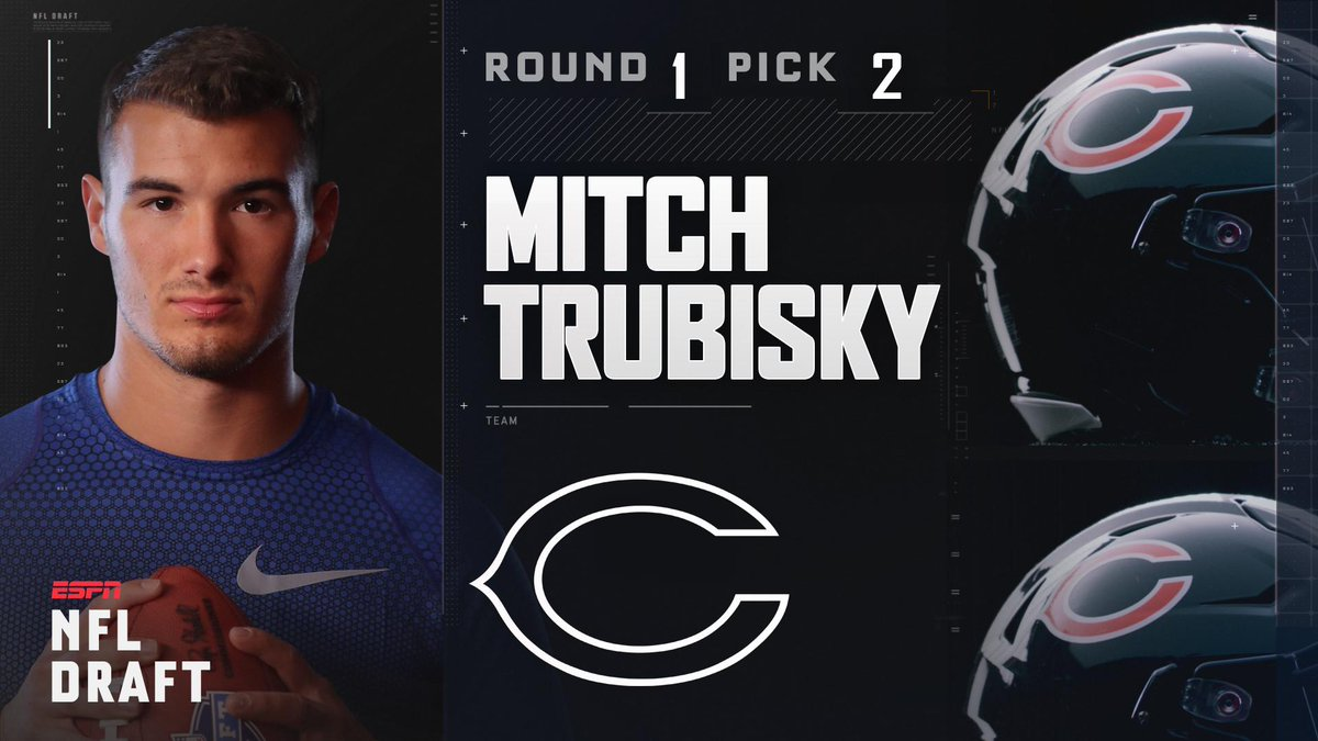With the 2nd pick in the 2017 NFL Draft, the Chicago Bears select Mitc...