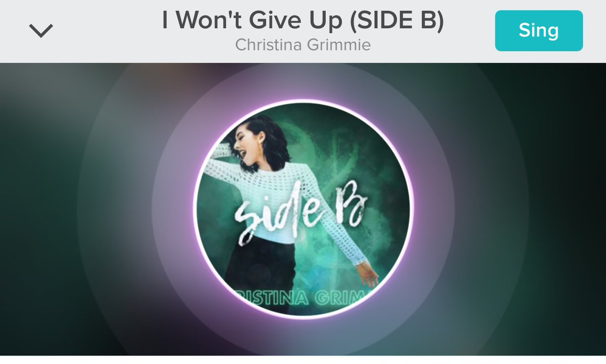 #smule #ChristinaGrimmie #SideB https://t.co/jvk9mdsuo7