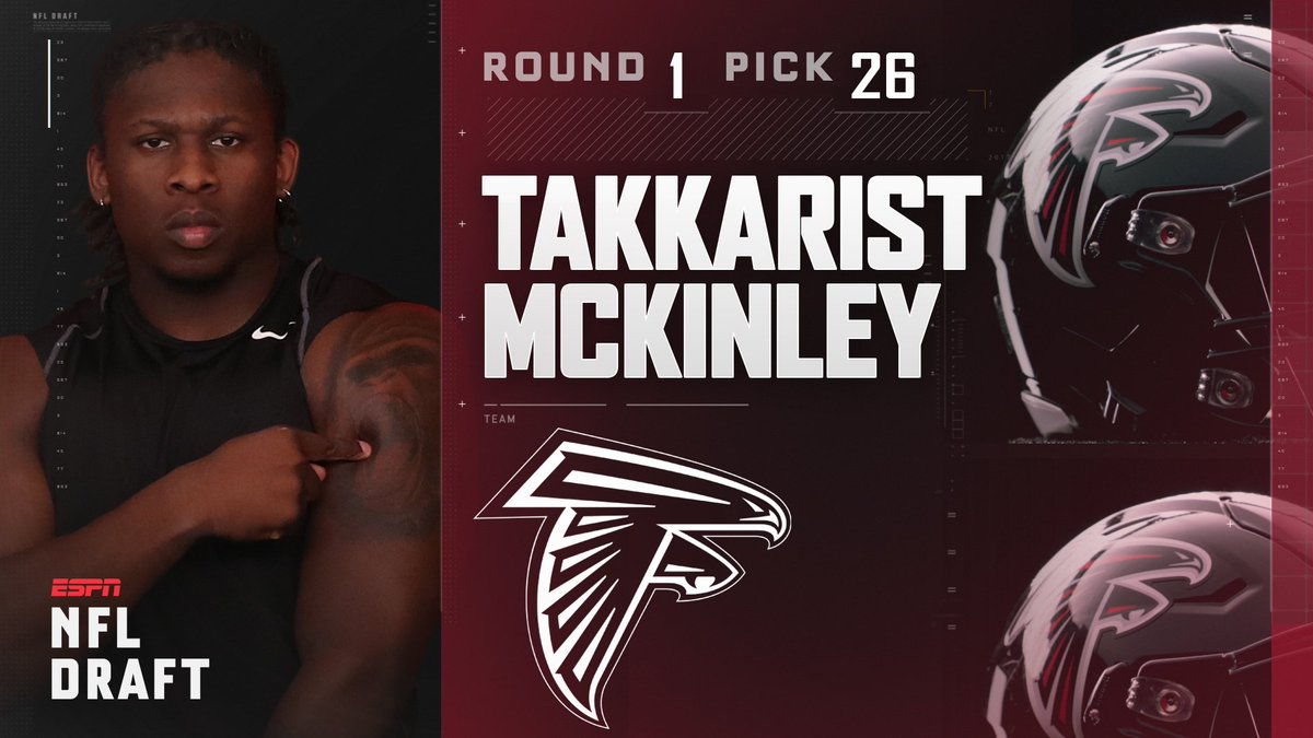 With the 26th pick in the 2017 NFL Draft, the Atlanta Falcons select T...