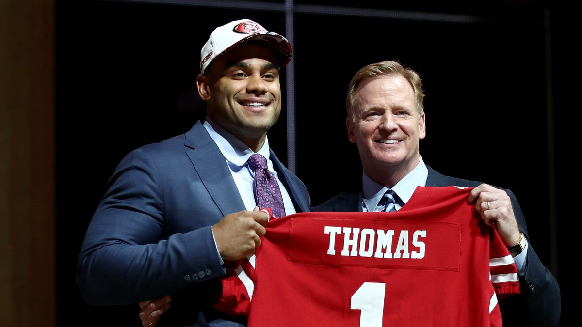 Former @CoppellHigh Cowboy @SollyThomas90 is selected No. 3 overall in the 2017 NFL Draft by the San Francisco 49ers https://t.co/hhnTbBH5Nw
