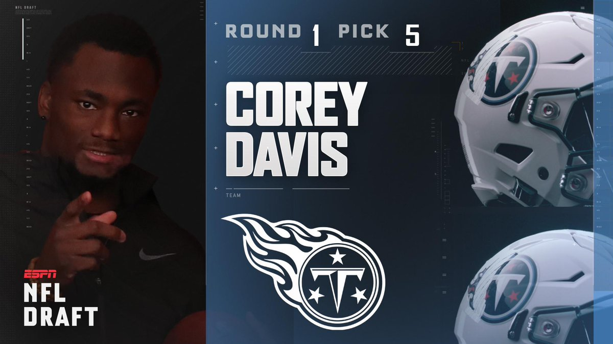 With the 5th pick in the 2017 NFL Draft, the Tennessee Titans select C...