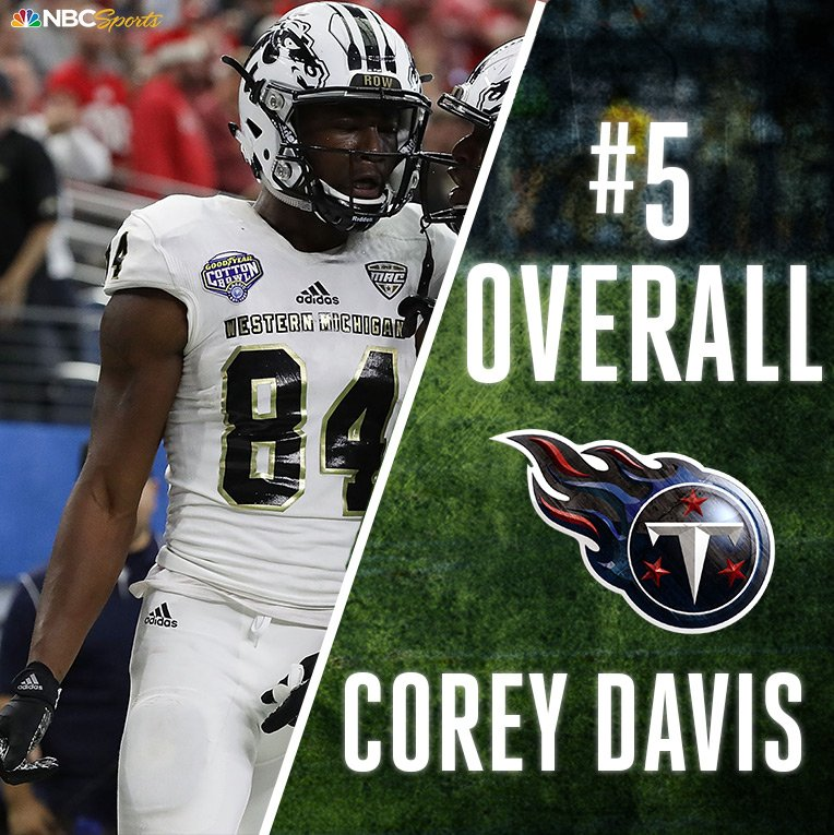 With the 5th overall pick in the #NFLDraft, the @Titans select @c_davi...