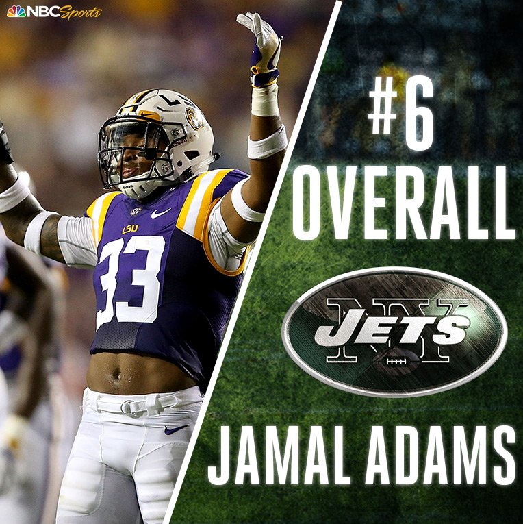 With the 6th pick in the #NFLDraft, the @nyjets select Jamal @TheAdams...