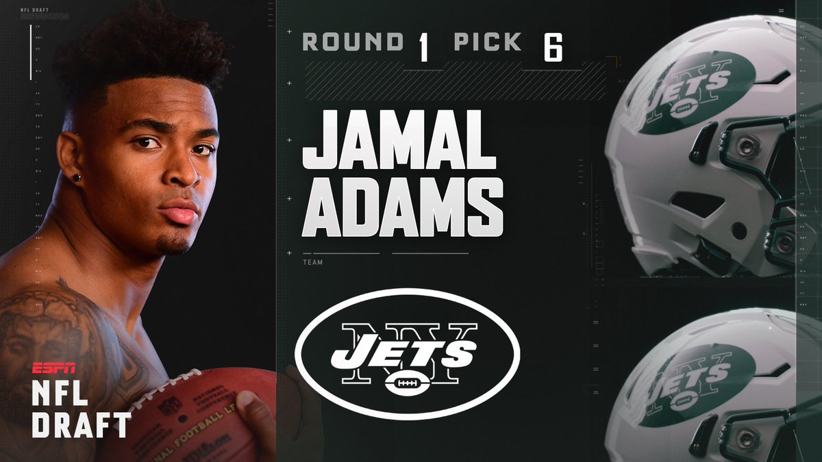 With the 6th pick in the 2017 NFL Draft, the New York Jets select Jama...