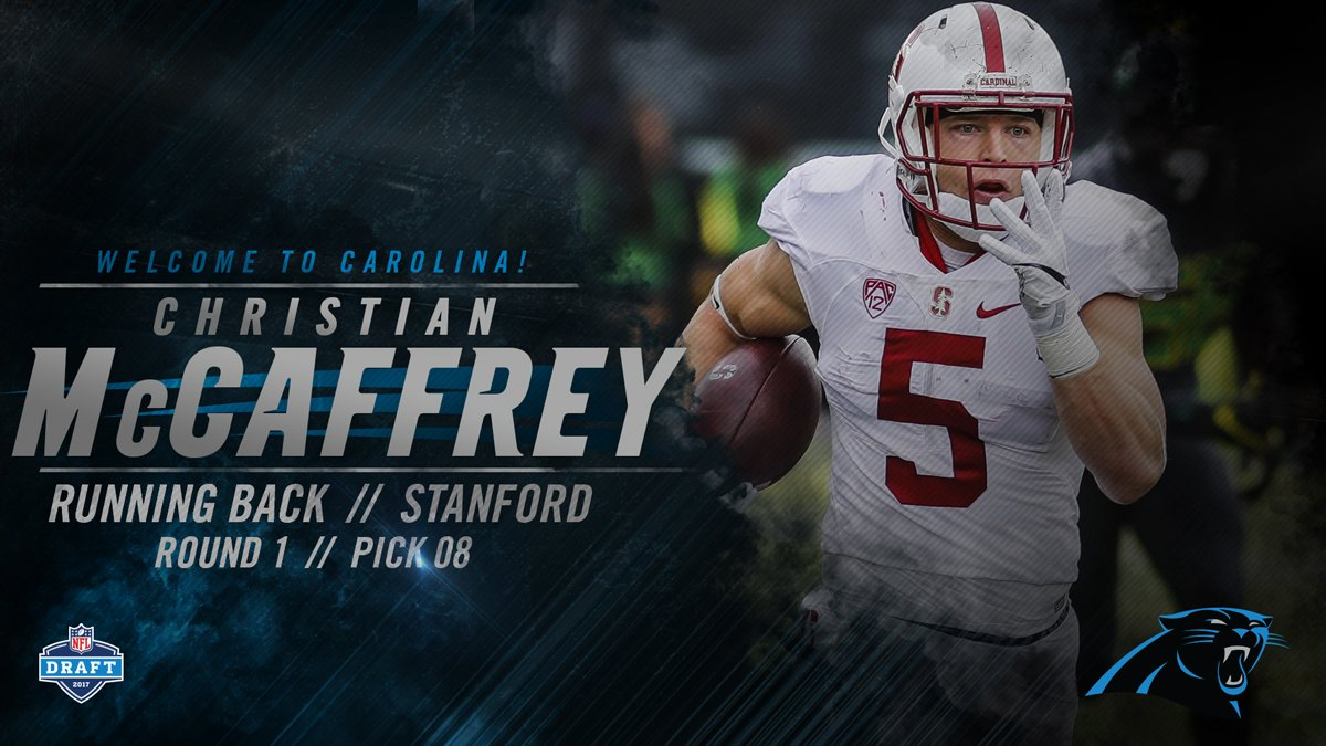 With the 8th pick in the #NFLDraft, the #Panthers select @StanfordFbal...