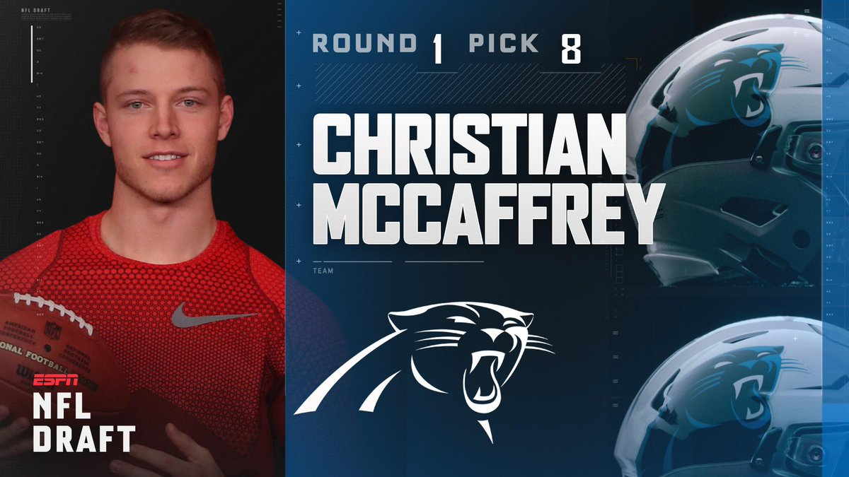With the 8th pick in the 2017 NFL Draft, the Carolina Panthers select...