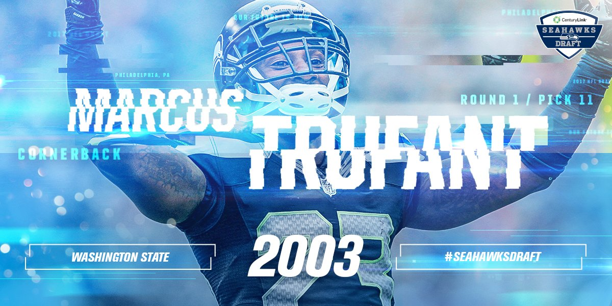 TRUUUUU became a part of the #Seahawks family with pick No. 11 in 2003...