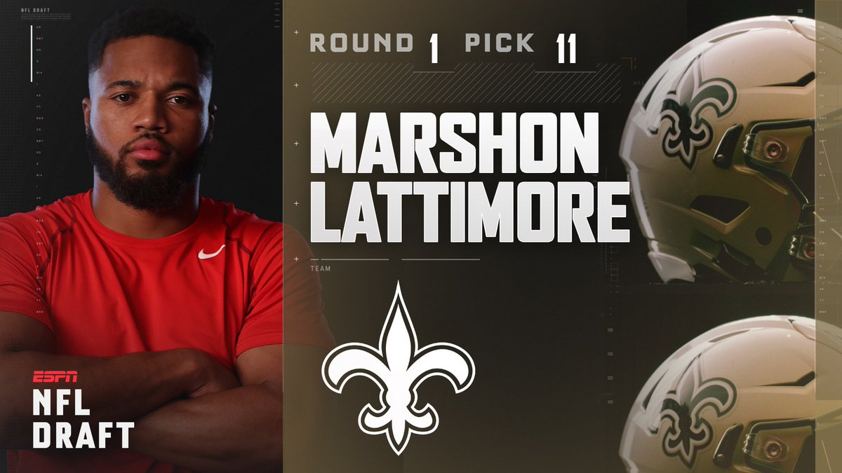With the 11th pick in the 2017 NFL Draft, the New Orleans Saints selec...
