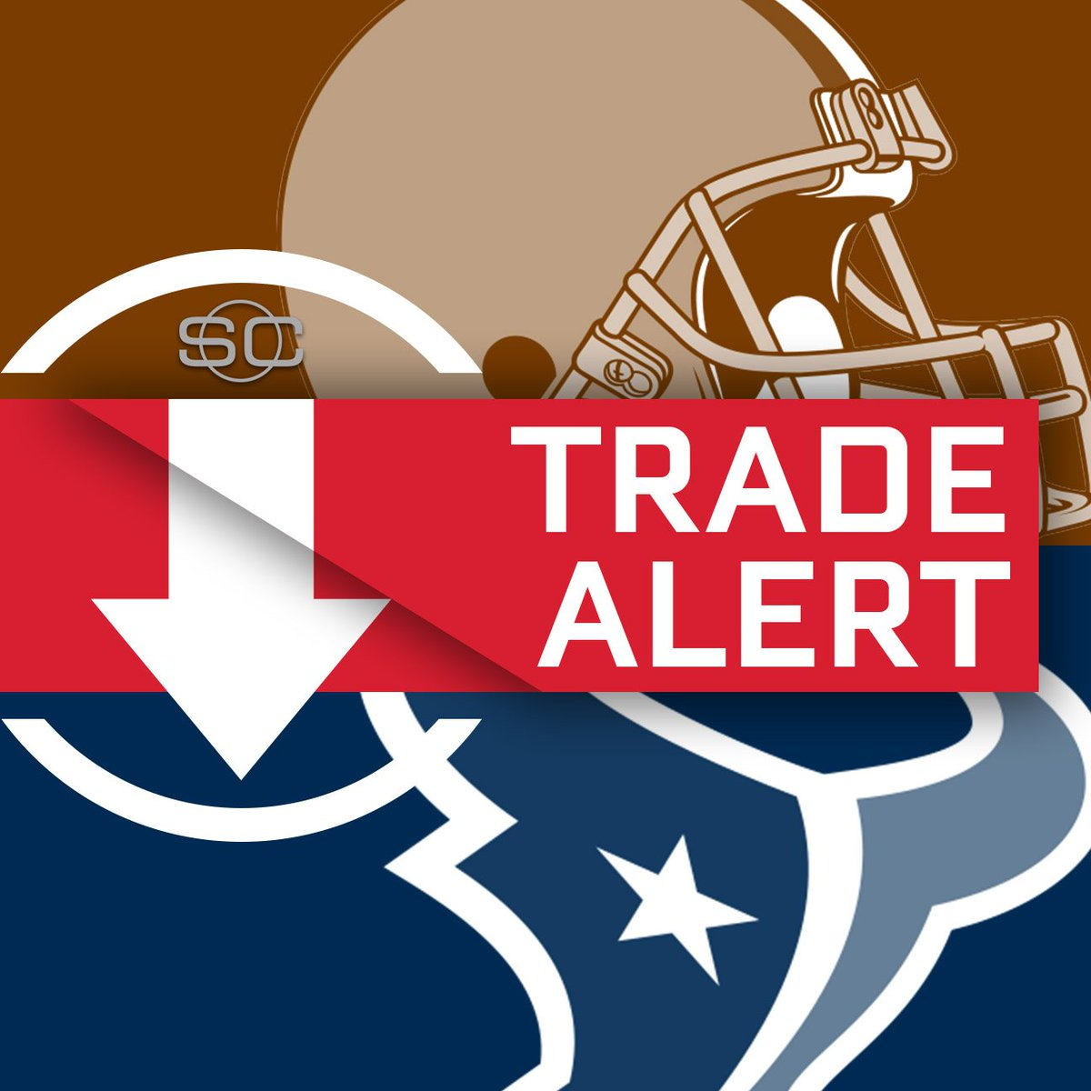 Houston has traded up and acquired the No. 12 overall pick from Clevel...