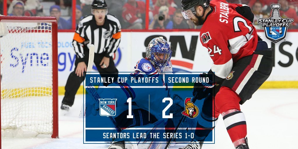 #Blueshirts fall to Ottawa in game 1. https://t.co/jQaFPQxj6v
