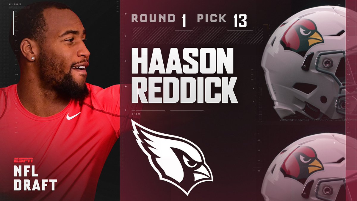 With the 13th pick in the 2017 NFL Draft, the Arizona Cardinals select...