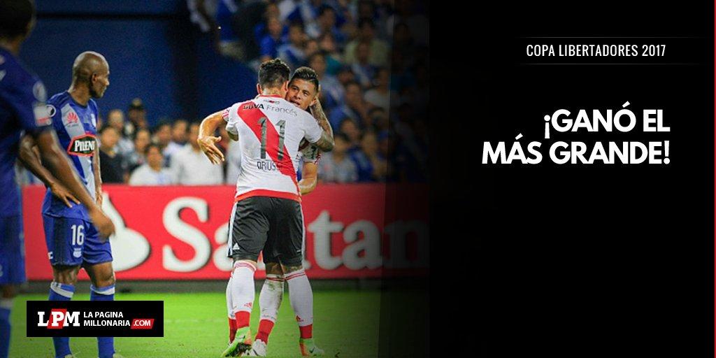 #River le ganó 2-1 a Emelec y se quedó con un triunfazo en Ecuador. ¡V...