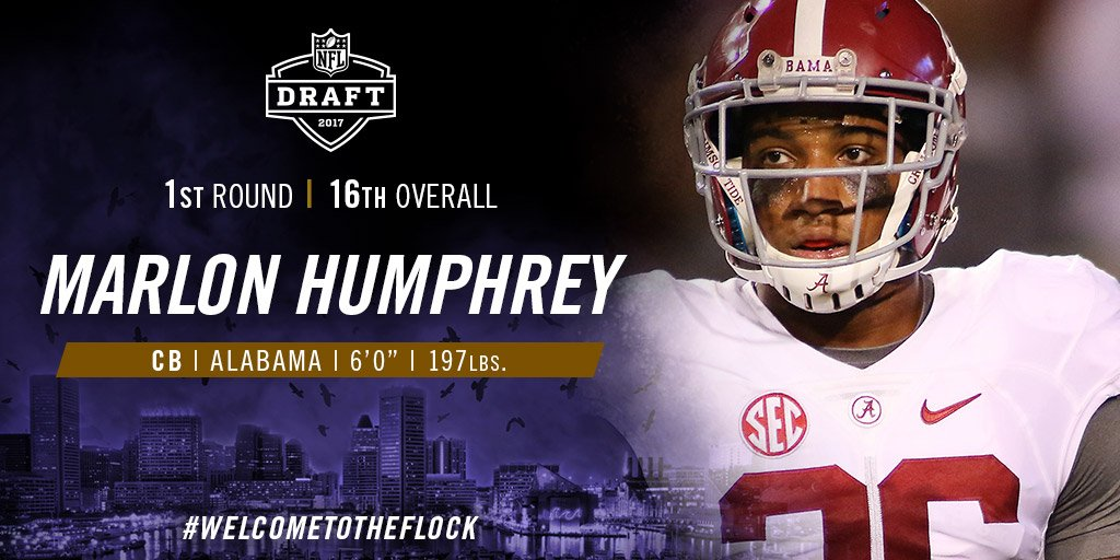 Welcome to Baltimore, @marlon_humphrey!  #WelcomeToTheFlock https://t....