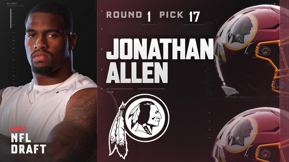 With the 17th pick in the 2017 NFL Draft, the Washington Redskins sele...