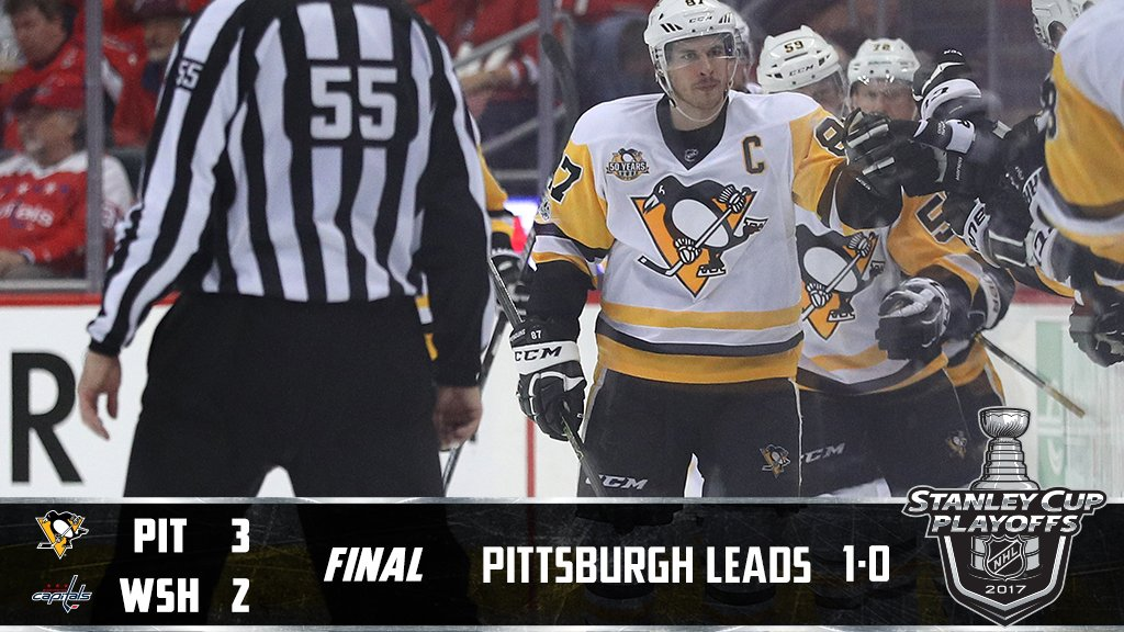 The @penguins grab Game 1 on the road! #StanleyCup #WSHvsPIT https://t...