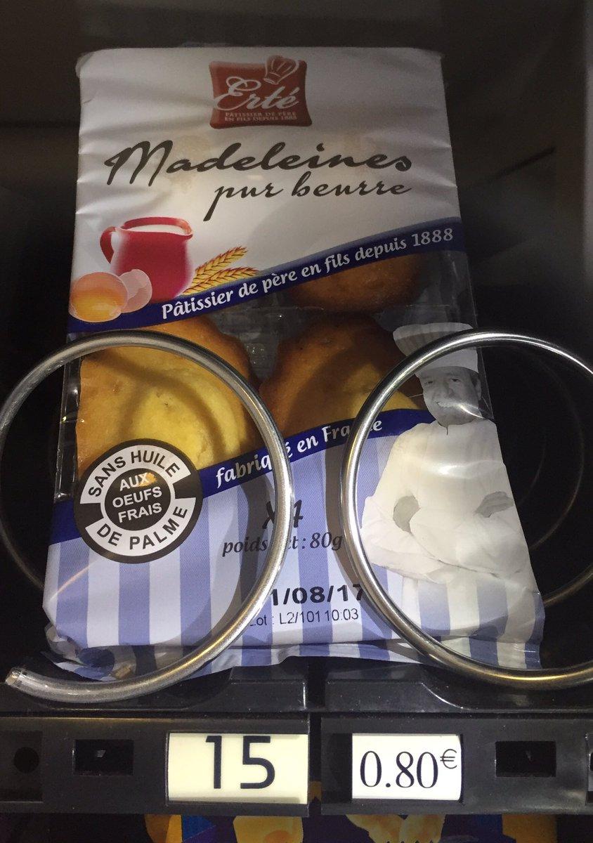 80 ou 90 centimes € les madeleines? La guerre des prix jusque dans les distributeurs de @franceinfo. #capitalismesauvage