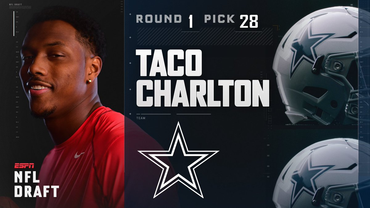 With the 28th pick in the 2017 NFL Draft, the Dallas Cowboys select Ta...
