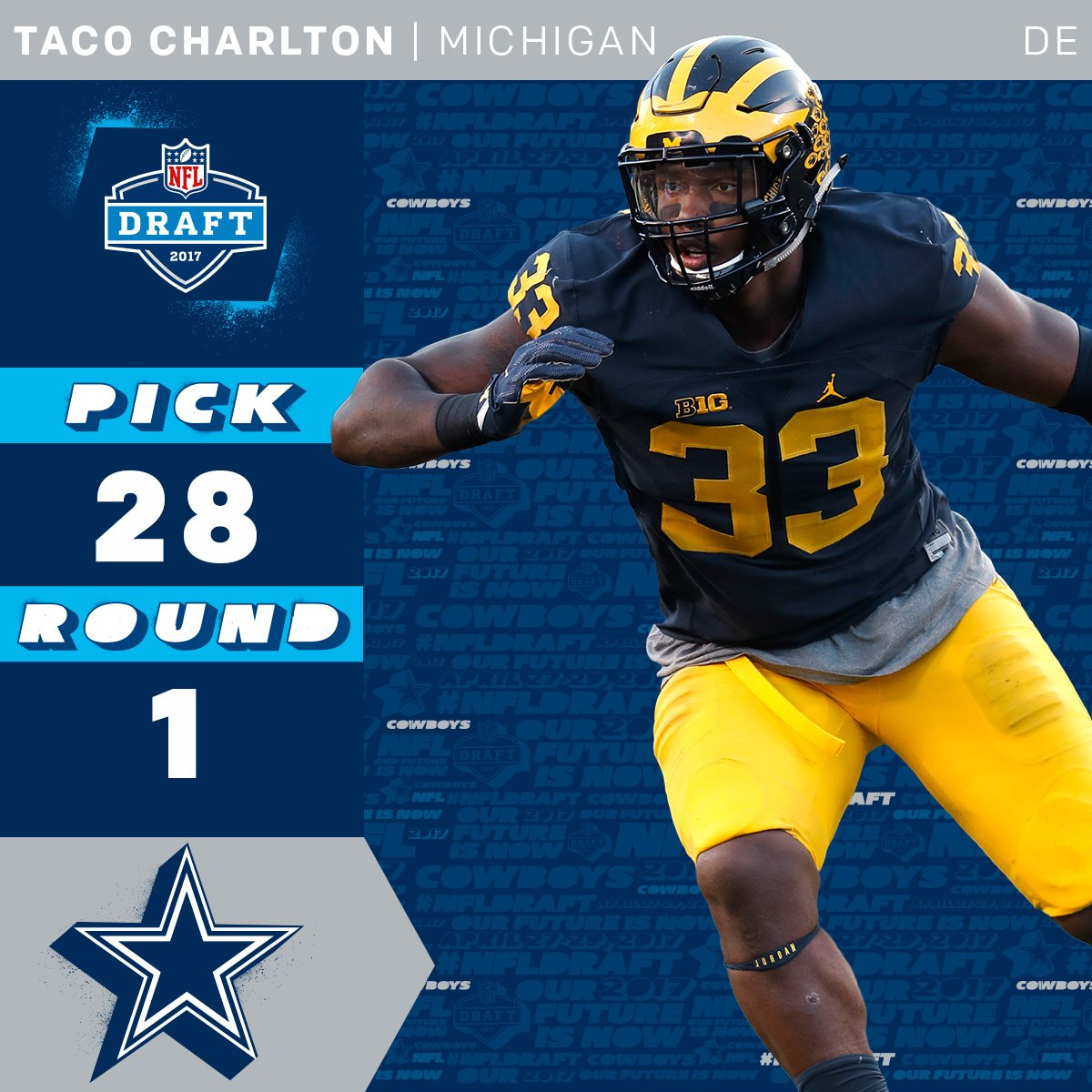 The @dallascowboys select @UMichFootball DE @TheSupremeTaco with the 2...