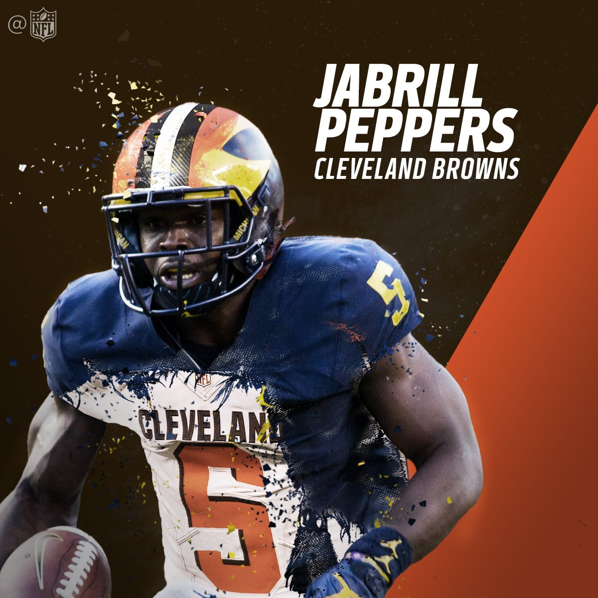 Now roaming in the @Browns secondary...  @JabrillPeppers!  #NFLDraft h...