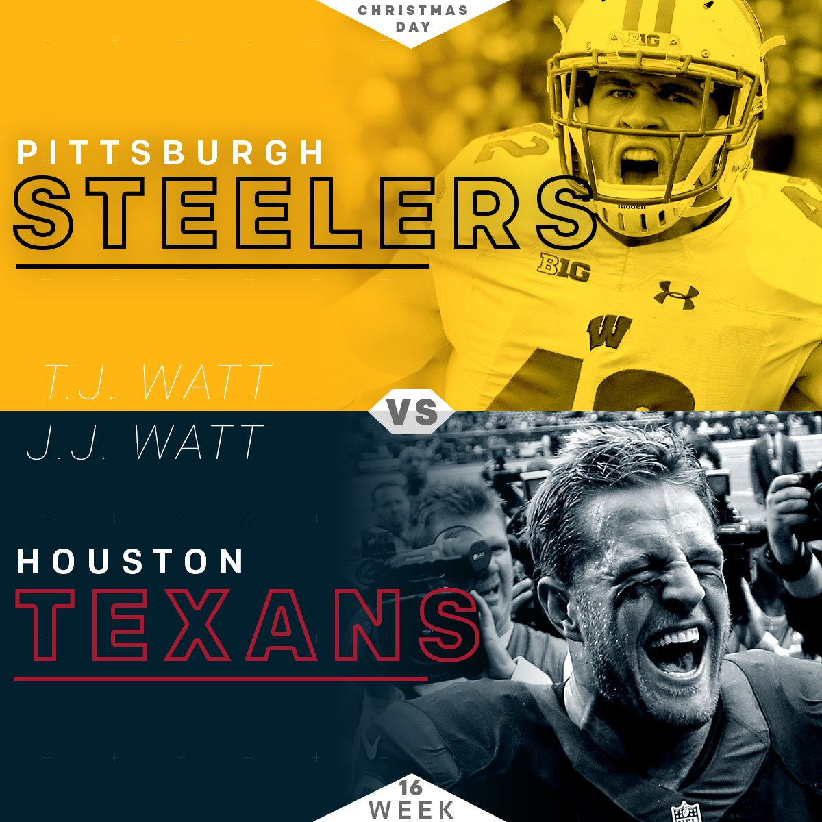 nfl on twitter a watt brother showdown coming christmas day pitvshou - Nfl Schedule Christmas Day